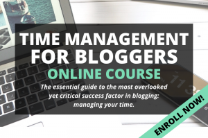 Time management for bloggers course